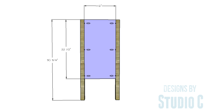 DIY Furniture Plans to Build an Evan Dresser - Sides