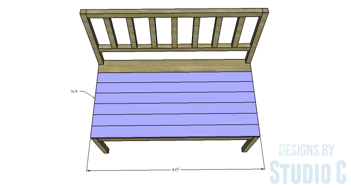 DIY Furniture Plans to Build a Maya Bench - Seat Slats 2