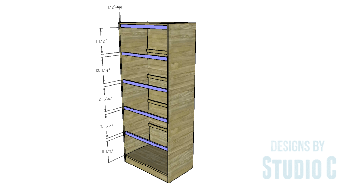 DIY Furniture Plans To Build A Rustic Pantry Cabinet   Cabinet Front  Stretchers