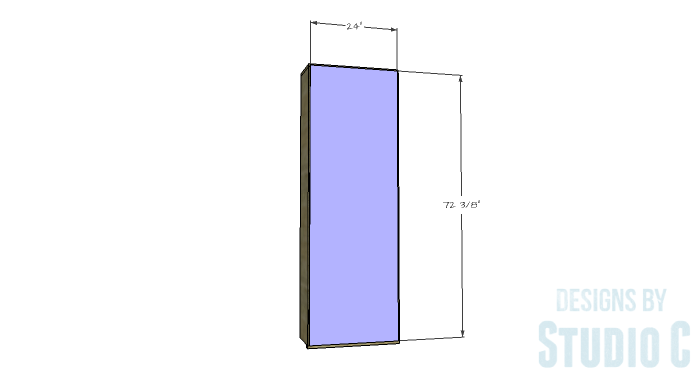 DIY Furniture Plans to Build a Squared Bookcase - Back