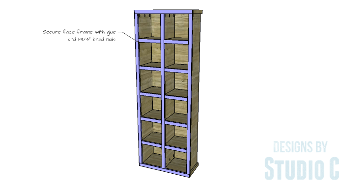 DIY Furniture Plans to Build a Squared Bookcase - Face Frame 2