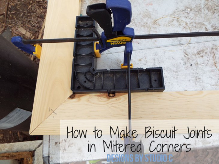 How to Make Biscuit Joints in Mitered Corners - Featured Image