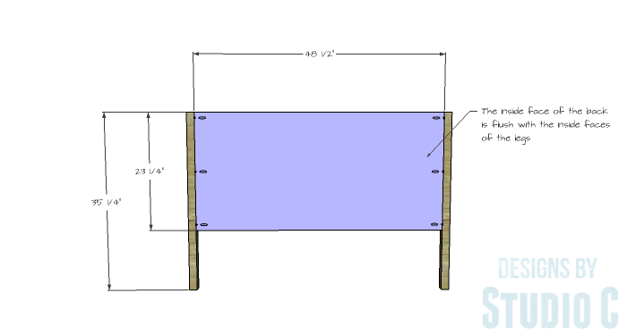 DIY Furniture Plans to Build a Demilune Console Table - Back
