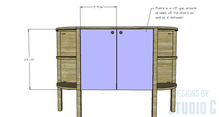 DIY Furniture Plans to Build a Demilune Console Table - Doors