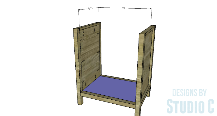 DIY Furniture Plans to Build a Diamond Single Door Cabinet - Bottom