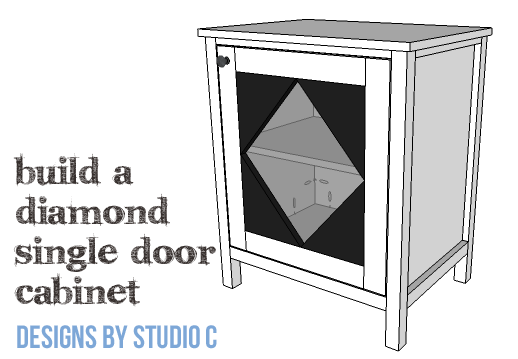 DIY Furniture Plans to Build a Diamond Single Door Cabinet - Copy