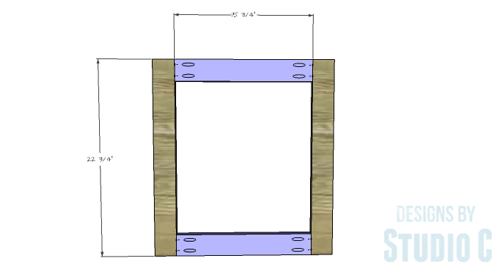 DIY Furniture Plans to Build a Diamond Single Door Cabinet - Door 1