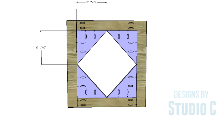 DIY Furniture Plans to Build a Diamond Single Door Cabinet - Door 2