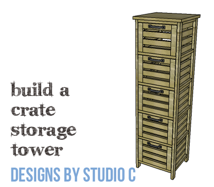 DIY Furniture Plans To Build A Crate Storage Tower   Copy