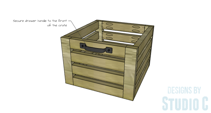 DIY Furniture Plans to Build a Crate Storage Tower - Crate Handle