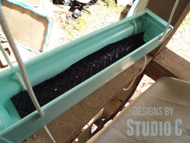 Home Depot Do It Herself Workshop Hanging Gutter Planter - Weed Barrier