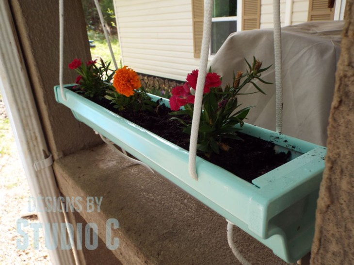 Home Depot Do It Herself Workshop Hanging Gutter Planter - Flowers