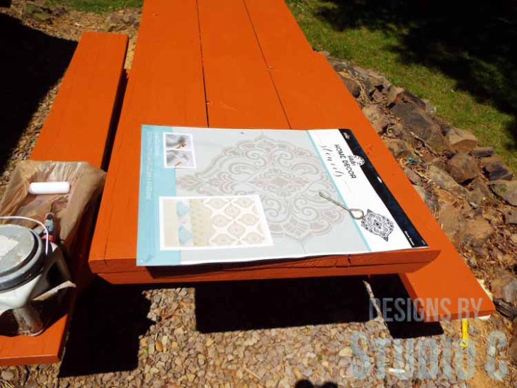 DIY Picnic Table Makeover - Prepping for Stencil