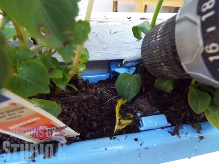 DIY Rain Gutter Planter - Mounting with Screws