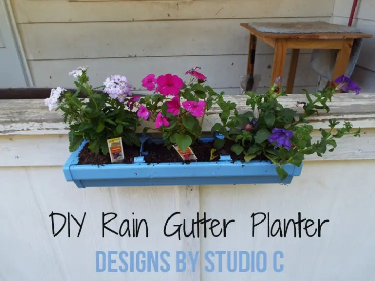 DIY Rain Gutter Planter - Featured Image