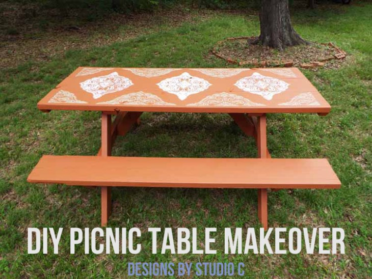 DIY Picnic Table Makeover