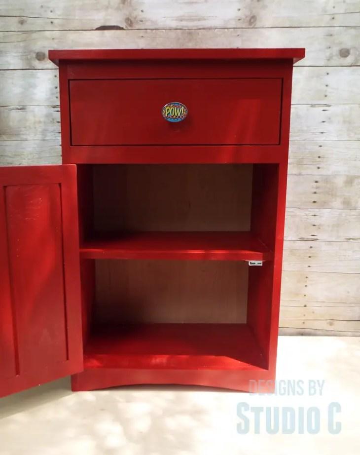 DIY Furniture Plans to Build Ryan's End Table - Door Open