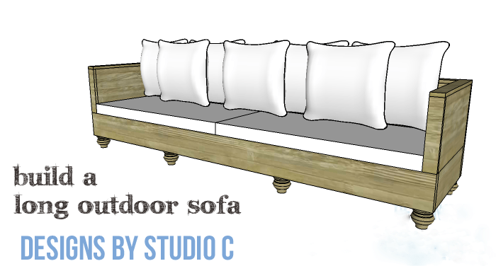 Genial DIY Furniture Plans To Build A Long Outdoor Sofa   Copy