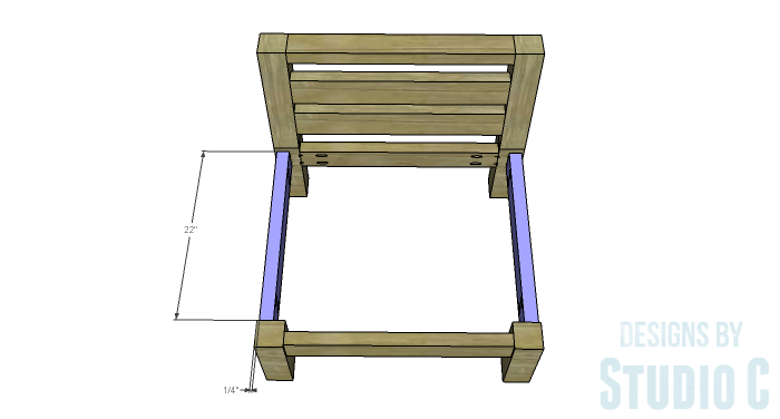 DIY Furniture Plans to Build a Low Slung Chair with Slatted Seat - Seat Sides