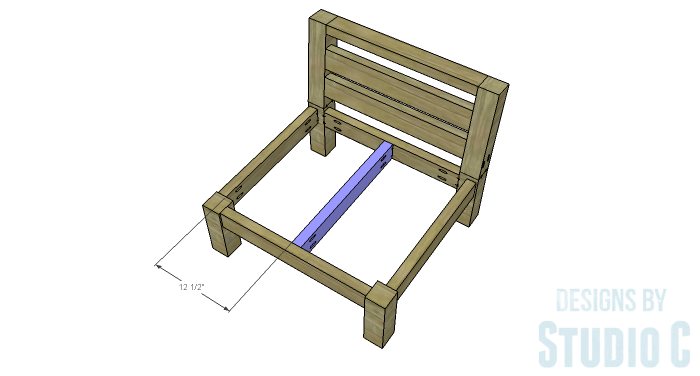 DIY Furniture Plans to Build a Low Slung Chair with Slatted Seat - Seat Support