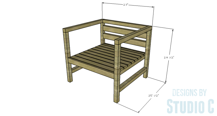 DIY Furniture Plans to Build a Modern Outdoor Chair