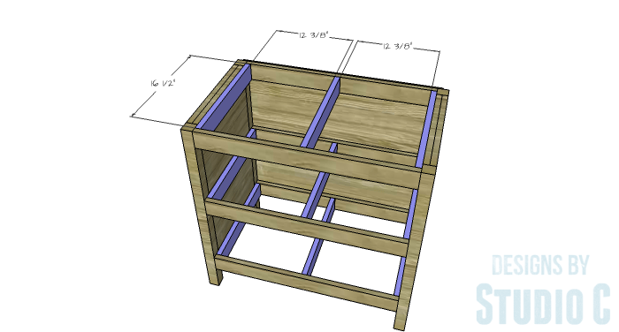 DIY Furniture Plans to Build an Open Shelf Sideboard - Shelf Supports