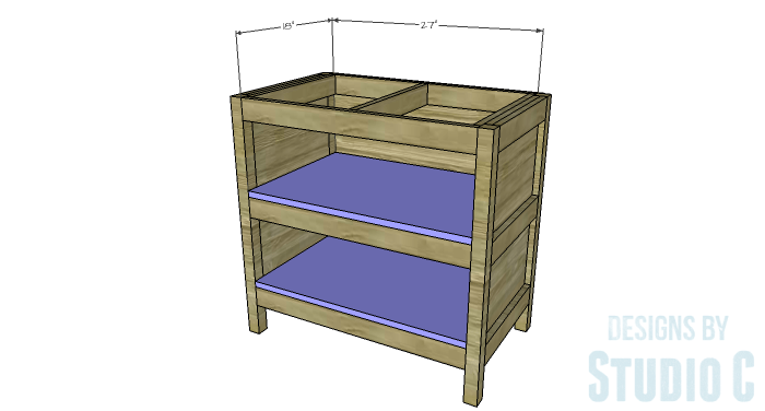 DIY Furniture Plans to Build an Open Shelf Sideboard - Shelves