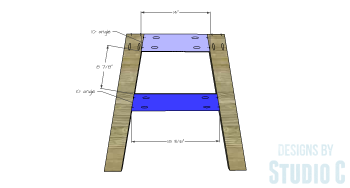 DIY Furniture Plans to Build a Round Cross Base Table - Base 1