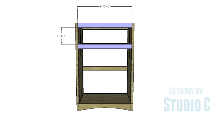 DIY Furniture Plans to Build Ryan's End Table - Front Stretchers