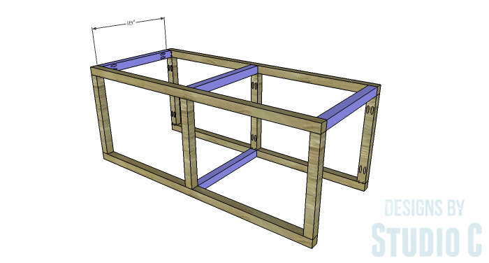 DIY Furniture Plans to Build a Coffee Table with Slide-Out Extensions - Coffee Table Stretchers