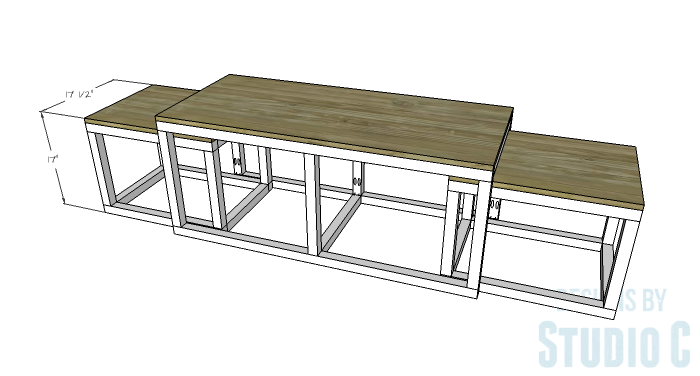 DIY Furniture Plans to Build a Coffee Table with Slide-Out Extensions - Extensions