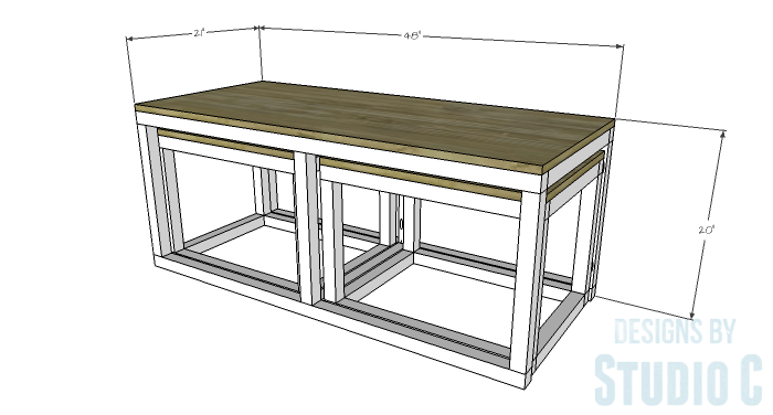 DIY Furniture Plans to Build a Coffee Table with Slide-Out Extensions