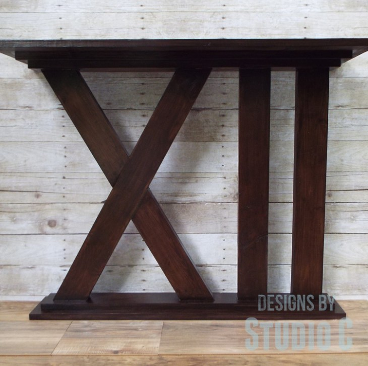 DIY Furniture Plans to Build a Roman Numeral Console Table - Completed
