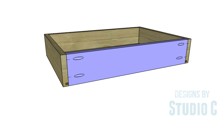 DIY Furniture Plans to Build a Dresser with Side Storage - Drawer 4