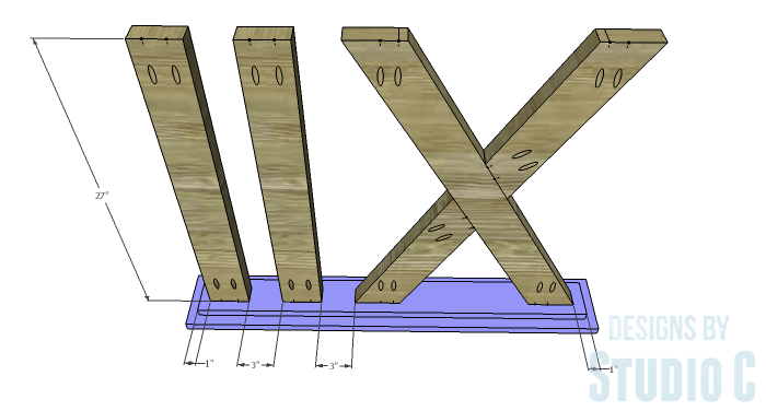 DIY Furniture Plans to Build a Roman Numeral Console Table - Bottom 2