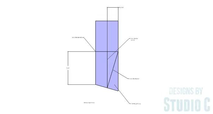 Roman Numeral Table - V Bottom Angle Detail
