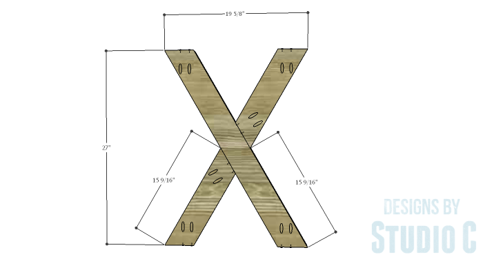 DIY Furniture Plans to Build a Roman Numeral Console Table - X 2