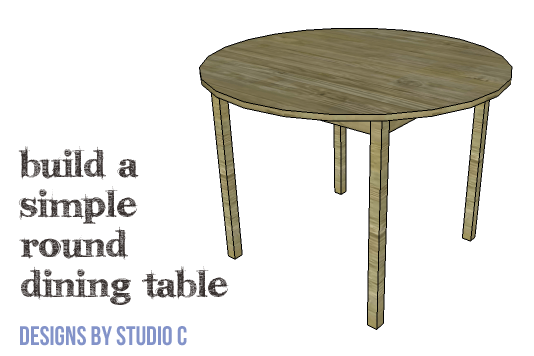 DIY Furniture Plans to Build a Simple Round Dining Table - Featured plan image