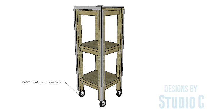 DIY Furniture Plans to Build a Portable Stand for Weights and PowerBlocks - Casters