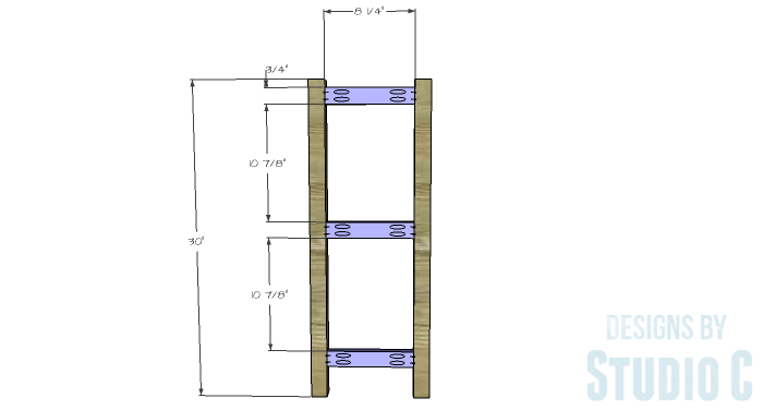DIY Furniture Plans to Build a Portable Stand for Weights and PowerBlocks - Stretchers 1