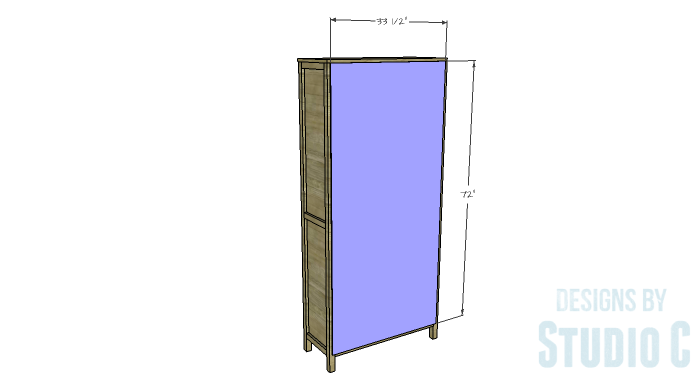 DIY Furniture Plans to Build a Hemnes Inspired Glass Door Cabinet - Back