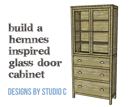 DIY Furniture Plans to Build a Hemnes Inspired Glass Door Cabinet - Copy