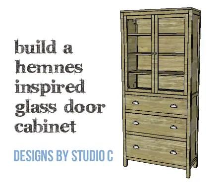 DIY Furniture Plans To Build A Hemnes Inspired Glass Door Cabinet   Copy
