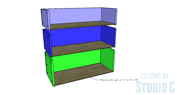 DIY Furniture Plans to Build a Hemnes Inspired Glass Door Cabinet - Drawer Box 3