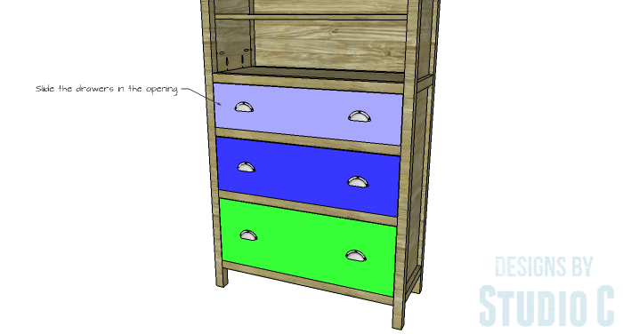 DIY Furniture Plans to Build a Hemnes Inspired Glass Door Cabinet - Drawers