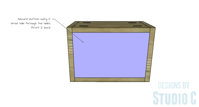 DIY Furniture Plans to Build an IKEA Inspired Selje End Table - Drawer Box Bottom 2