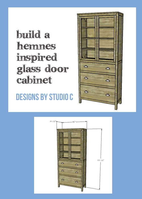 An easy to build cabinet inspired by the IKEA Hemnes collection.