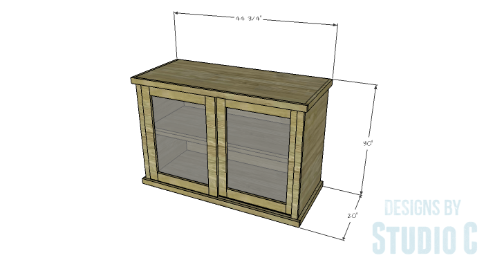 DIY Furniture Plans to Build a Stackable Cabinet