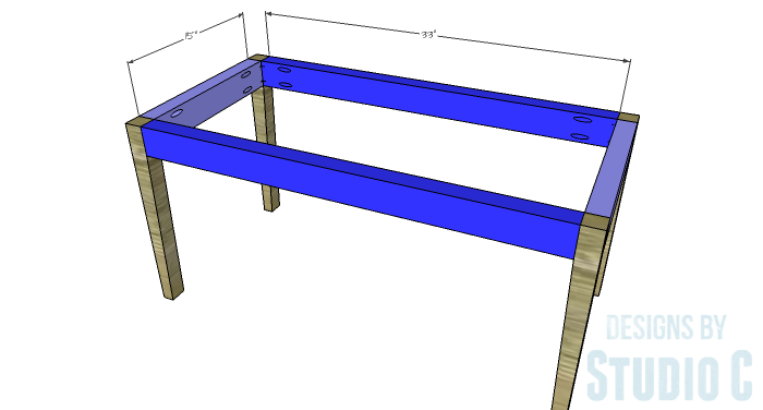 DIY Furniture Plans to Build an Upholstered Bench with Tapered Legs - Frame