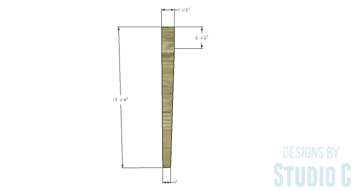 DIY Furniture Plans to Build an Upholstered Bench with Tapered Legs - Legs